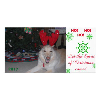 Merry Christmas GSD German Shepherd card funny