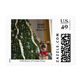 Merry Christmas GSD German Shepherd stamp