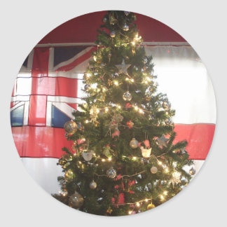 Merry Christmas Hakuna Matata UK. Classic Round Sticker