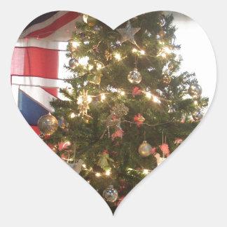 Merry Christmas Hakuna Matata UK. Heart Sticker