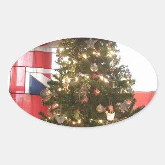 Merry Christmas Hakuna Matata UK. Oval Sticker