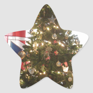 Merry Christmas Hakuna Matata UK. Star Sticker