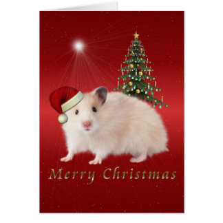 Merry Christmas Hampster Card