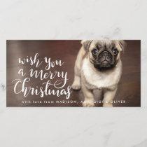 Merry Christmas | Handwritten Script Holiday Photo