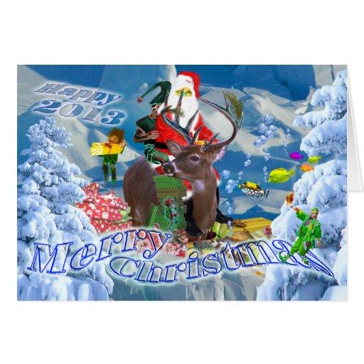 Merry Christmas, Happy 2013, crazy card