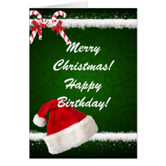 merry christmas happy birthday card - Merry Christmas And Happy Birthday