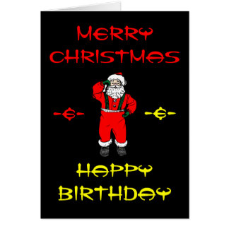 merry christmas happy birthday cards