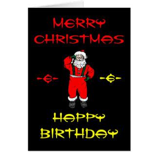 Merry Christmas & Happy Birthday Cards