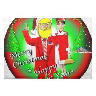 Merry Christmas & Happy Eight Years Cloth Placemat