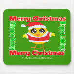 Merry Christmas Happy Holiday CHICK Mouse Pads