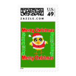 Merry Christmas Happy Holiday CHICK Postage Stamps
