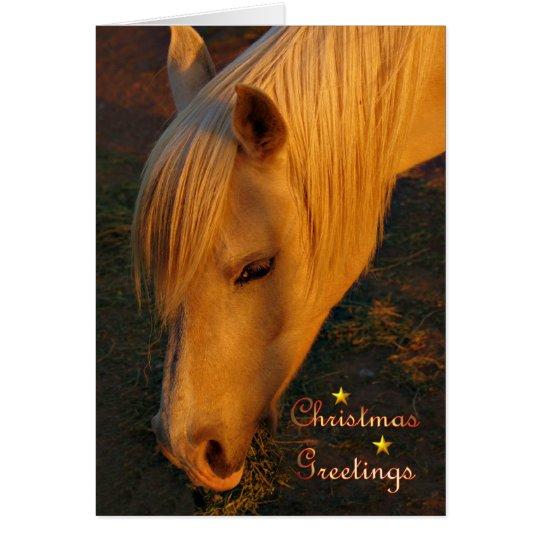 Merry Christmas Happy Holidays Christmas horse Card