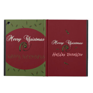 Merry Christmas Happy Holidays Ipad Air Case color