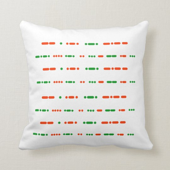 Merry Christmas  Happy Holidays Morse Code Pillow