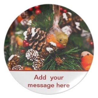 Merry Christmas Happy Holidays Season's Greetings Party Plates