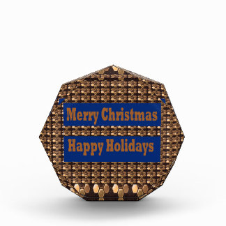 Merry Christmas  Happy Holidays Text Template GIFT Award