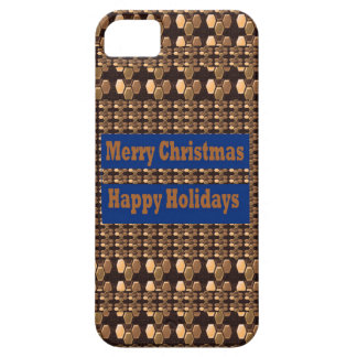 Merry Christmas  Happy Holidays Text Template GIFT iPhone 5 Case