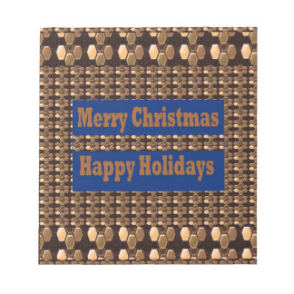 Merry Christmas  Happy Holidays Text Template GIFT Notepad