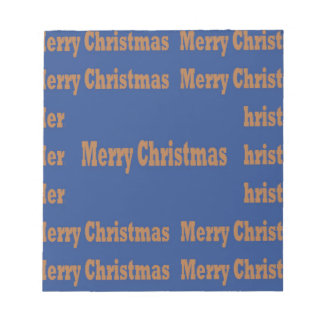 Merry Christmas  Happy Holidays Text Template GIFT Memo Pad