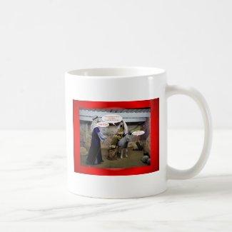 Merry Christmas Happy Holidays wishes Xmas Coffee Mugs