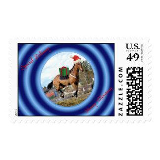 Merry Christmas Happy Holidays wishes Xmas Postage