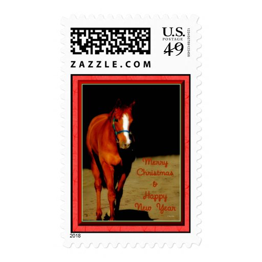 Merry Christmas Happy Holidays wishes Xmas Stamp