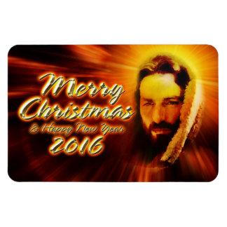 Merry Christmas Happy New Year 2016 Jesus Magnet