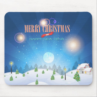 Merry Christmas Happy New Year 65 Mousepad