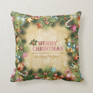 Merry Christmas Happy New Year 74 Pillows