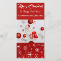 """Merry Christmas & Happy New Year 8"""" x 4"""" Photocard Holiday Card"""