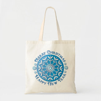 Merry Christmas Happy New Year Tote Bags