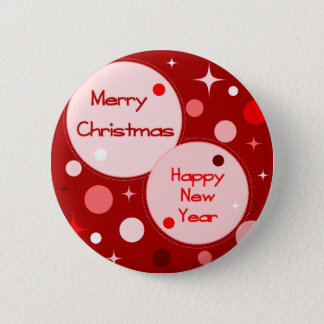 Merry Christmas Happy New Year Button