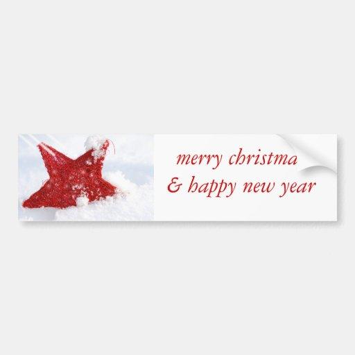 merry christmas & happy new year pegatina de parachoque