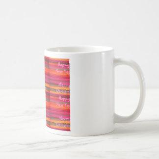 Merry Christmas Happy New Year Canvas Color Design Coffee Mug