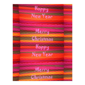 Merry Christmas Happy New Year Canvas Color Design Letterhead