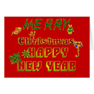 Merry Christmas Happy New Year :-) Card