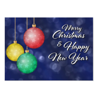 Merry Christmas & Happy New Year Card