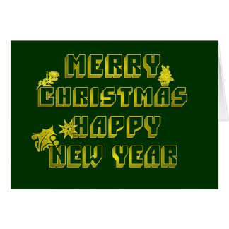 Merry Christmas Happy New Year Card