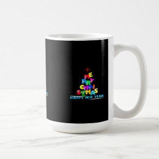 Merry Christmas Happy New Year Coffee Mug
