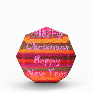 Merry Christmas Happy New Year Color Design Acrylic Award