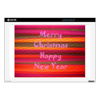 Merry Christmas Happy New Year Color Design Laptop Skin