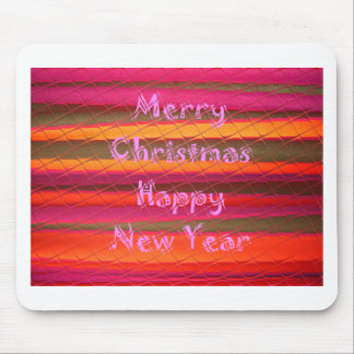 Merry Christmas Happy New Year Color Design Mouse Pad
