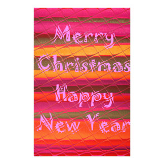 Merry Christmas Happy New Year Color Design Stationery