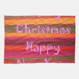Merry Christmas Happy New Year Color Design Towel