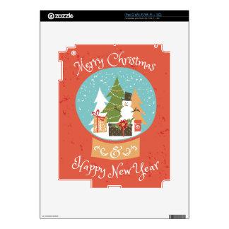 Merry Christmas Happy New Year iPad 2 Skin