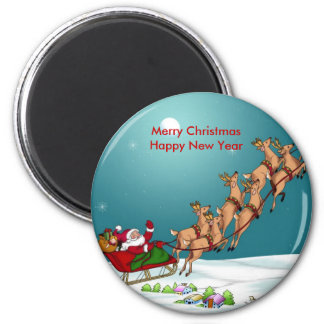 Merry Christmas Happy New Year Magnet