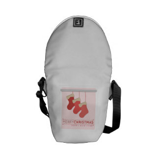 Merry Christmas Happy New Year Courier Bag