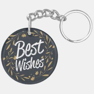 Merry Christmas Happy New Year modern handwritten Keychain
