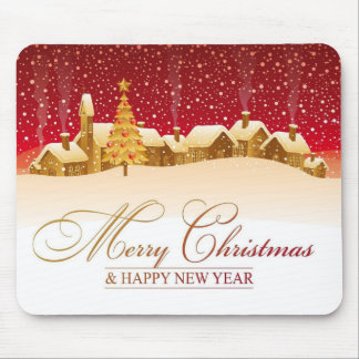 Merry Christmas & Happy New Year Mouse Pad