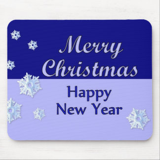 Merry Christmas Happy New Year Mouse Pad